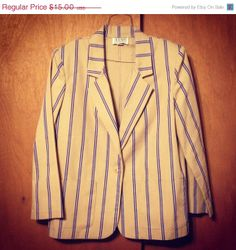 20 OFF SALE Med Vintage blazer sweater coat with by KddOccessories, $8.00