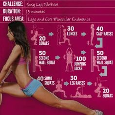 *Sexy, Strong Leg Workout* in 15 Minutes. Good for days when I want to work out at home with no equipment.