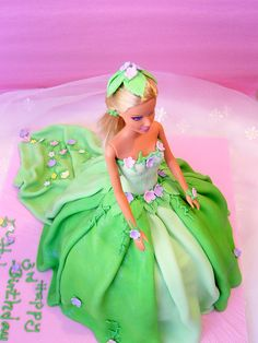 Fairy barbie cake for my niece
