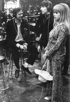 Brian Epstein, Keith Moon and Kim Kerrigan.
