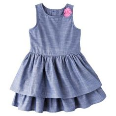 Cherokee® Infant Toddler Girls' Sleeveless Chambray Dress