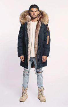 Winter Parka, Winter Jackets, Long Parka Coats, Parka Jackets, Parka Outfit, Fur Lined Coat, Hooded Parka, Parka Men, Khaki Parka
