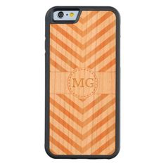 Red Birch Stain Chevron on Cherry iPhone Wood Case