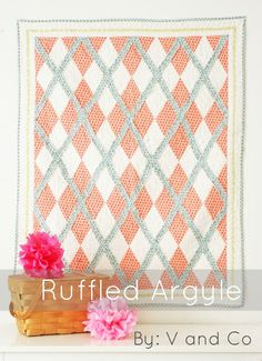 Ruffled Argyle Quilt Pattern V