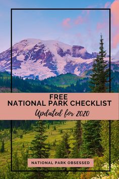 Are you on a quest to visit all the United States National Parks?  Here is a free National Park Checklist download to help you track your progress.    #nationalparkobsessed #nationalparks #nationalpark Us National Parks, Weekend Trips, Road Trip, Track, United States, America, Explore, Vacation, Landscape