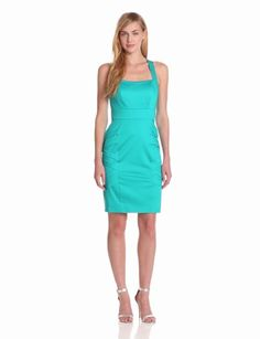 Amazon.com: Calvin Klein Women's Sleeveless Square Neck Dress: Clothing