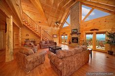 Luxury Secluded 3 Bedroom with Amazing Views Log Cabin Living, Log Cabin Kits, Log Cabin Homes, Log Cabins, How To Build A Log Cabin, Rustic Loft, Cabin In The Woods, Cabins And Cottages, Traditional House