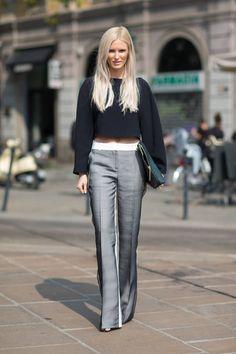 The Style Has Spoken: Calling the Crops ce pantalon ... Céline je crois, doublé voile noir devant...