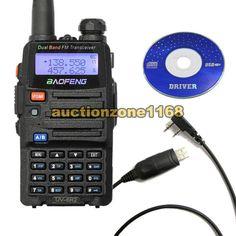 UV 5R2 Baofeng dual band UHF VHF UV5R 2 HAM FM Radio Free Cască Cablu USB 637836542314 | eBay $44