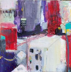 Part of my cityscape painting series.  12 x 12, For more information about my work, please visit my website or @lorrakurtz