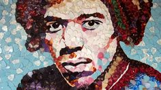 #JimiHendrix portrait made of #plectrums to be unveiled