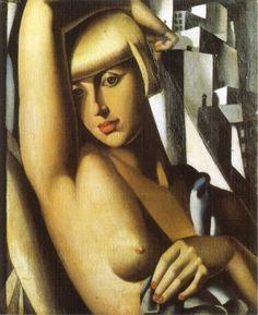 Tamara de Lempicka >> Portrait of Suzy Solidor (1933)