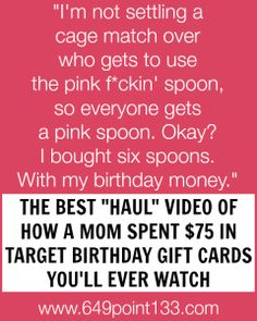 You'll never look at pink spoons the same way again.  Watch this haul video by @649point133!