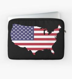 'US flag' Laptop Sleeve by Macbook Air Pro, Sleeve Designs, Back To Black, Laptop Sleeves, Plush, Flag, Notebook Covers, Flags