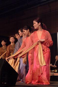 Dancers at a Vietnamese Tet Festival