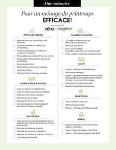 Checklist for efficient spring cleaning!