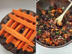 grilled sweet potatoes, cherry salsa & quinoa