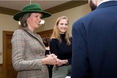 La reine des Belges Mathilde et sa nièce la princesse Luisa Maria de Belgique à Montréal, le 16 mars 2018