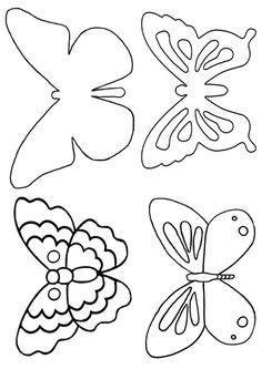 Schmetterling-Schablone: