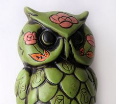 Vintage Owl Coin Bank. (remember when owls were scary/ugly? Hooray for vintage!)