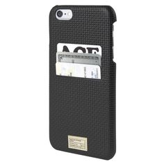Hex: Solo Wallet For iPhone 6 Plus - Black Woven Leather (HX1836-BKWV)