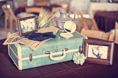 Inspiração vintage para casamento: com malas de viagem