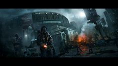 Tom Clancy's The Division box art depicts the devastated New York City and a broken civilization.