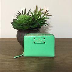 Kate Spade Wellesley Wallet Brand New Authentic KATE SPADE Cara Wellesley compact wallet in budgreen color. kate spade Bags Wallets