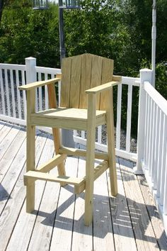 Adirondack Chair Tall Deck Plans