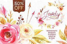 50%OFF! Lovely Flowers collection. - Objects