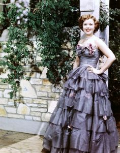 The dress I would have worn to one of my graduation parties. (Shirley Temple)