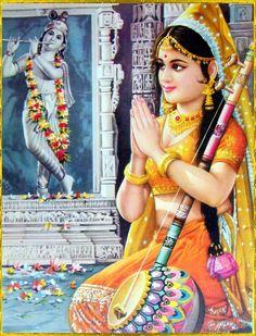 Meera, an ardent devotee of Krishna