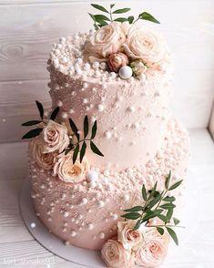 32 Jaw-Dropping Pretty Wedding Cake Ideas Blush Pink Two Tier Wedding Cake . - 32 jaw-dropping pretty wedding cake ideas blush pink two tier wedding cake mi cake decorating - Pretty Wedding Cakes, Wedding Cake Rustic, Elegant Wedding Cakes, Wedding Cake Designs, Pretty Cakes, Beautiful Cakes, Rose Wedding Cakes, Wedding Cake Cupcakes, Vintage Wedding Cakes