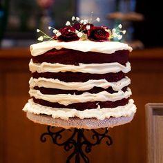DIY Red Velvet Wedding Cake