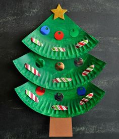Need some crafting and DIY inspiration to do over the long holiday break? Check out our 10 easy arts and crafts your kids are sure to love. für Einsteigerprojekte Pregnancy, Parenting, Lifestyle, Beauty: Tips & Advice Christmas Tree Paper Craft, Lace Christmas Tree, Holiday Crafts For Kids, Christmas Ornament Crafts, Paper Crafts For Kids, Christmas Activities, Xmas Crafts, Kids Christmas, Kids Holidays