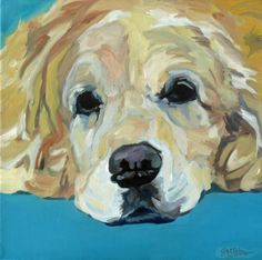 Golden Retriever Pet Portrait #dogportrait #goldenretriever #barkingdogcreations http://Facebook.com/barkingdogcreations