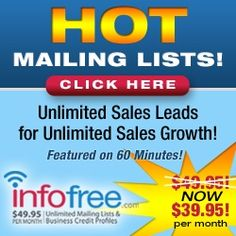 Mailing Lists-$39.95 per month