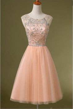 Pink Tulle Homecoming Dresses, Rhinestone Homecoming Dresses, Cute Homecoming Dresses, High Quality Homecoming Dresses,Dresses For Prom,Short Prom Dresses,Cheap Homecoming Dresses,Juniors Homecoming Dresses,PD0596