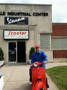 Franco F from Westchester County NY picked up this vintage 1979 PX150 & the stylish Scooter Centrale cap to go along with it! Cheers! :)  #Vespa #VespaHartford #Scooter #ScooterCentrale #Fun #Smile #Classic
