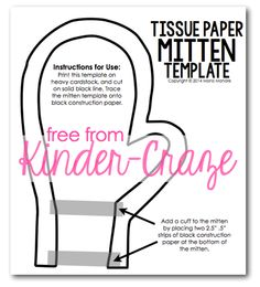 FREE stained glass mitten template from Kinder-Craze