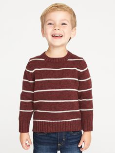 5fc327271 Striped Crew-Neck Sweater for Toddler Boys | Old Navy Toddler Cardigan,  Maternity Wear