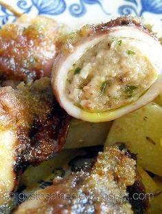 Calamari ripieni al forno (aggiungere anche patate)