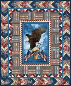 Old Glory One Stamp Quilt of Valor