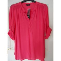F&F Pink Smock Top with Rollup Sleeves ~ Size 18 ~ BNWT Listing in the Tops,Womens Clothing,Clothes, Shoes,…