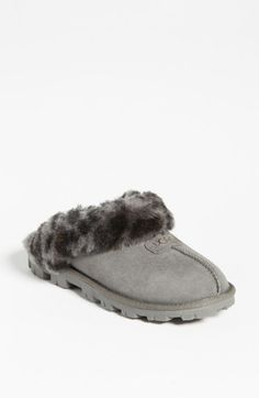 UGG® Australia 'Coquette' Slipper (Women) available at - black size 7 :) Ugg Slippers, Womens Slippers, Sheepskin Slippers, Ugg Boots Cheap, Outdoor Wear, Indoor Outdoor, Mk Purse, Leopard Spots, Fashion Lookbook