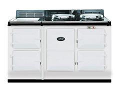 4 Oven AGA Night Storage Cast Iron Range Cooker - White