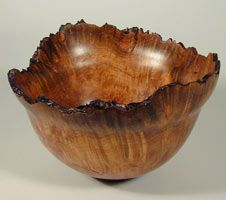 """Love the wood on this rough edged bowl...All I know is it's from a site """"Calico Cat""""...different crafts source"""