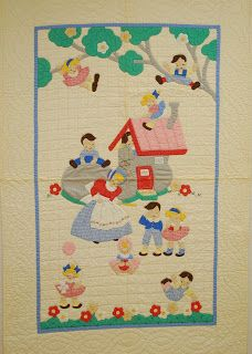 Quilts-Vintage and Antique: 1950 Kit Crib Quilt