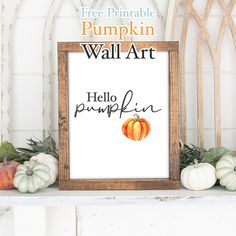 It's time for a piece of Free Printable Pumpkin Wall Art that will bring a touch of happiness any where you display it! Add a little pumpkin to your Fall! Country Wall Art, Farmhouse Wall Art, Farmhouse Decor, Cactus Wall Art, Cactus Print, Wall Art Decor, Wall Art Prints, Chalkboard Wall Art, Cactus Photography