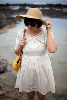 White dress calivintage: hawaiian vacation time! by calivintage, via Flickr